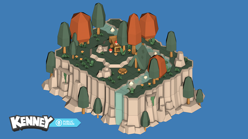Free 3D models from Kenney that comes with a Unity Package - Unity Forum