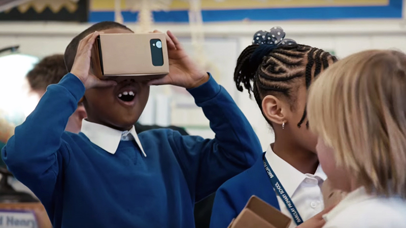 Mobile Virtual Reality in the classroom