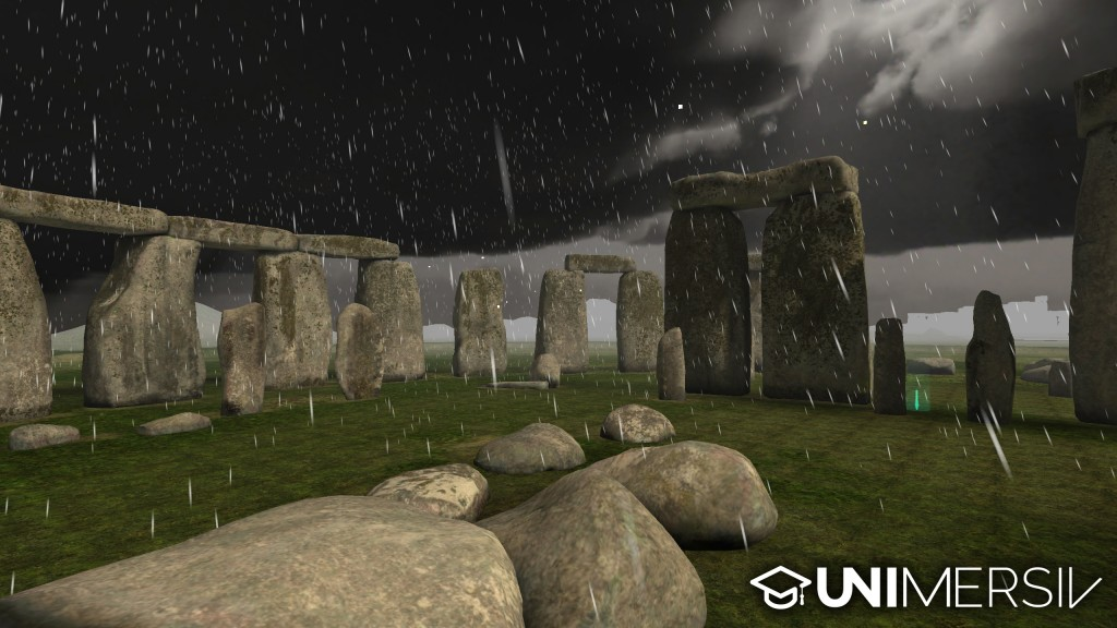 Stonehenge under the rain