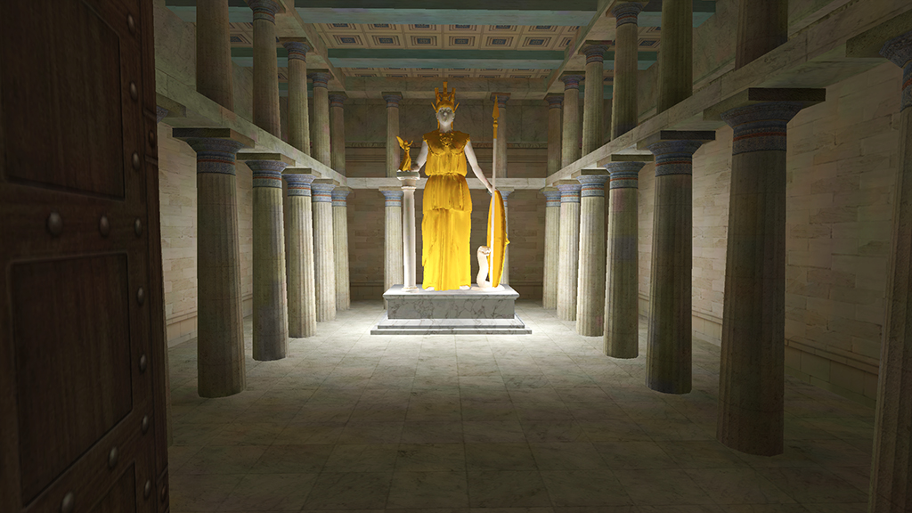 Statue of Athena Parthenos - Interior of the Parthenon