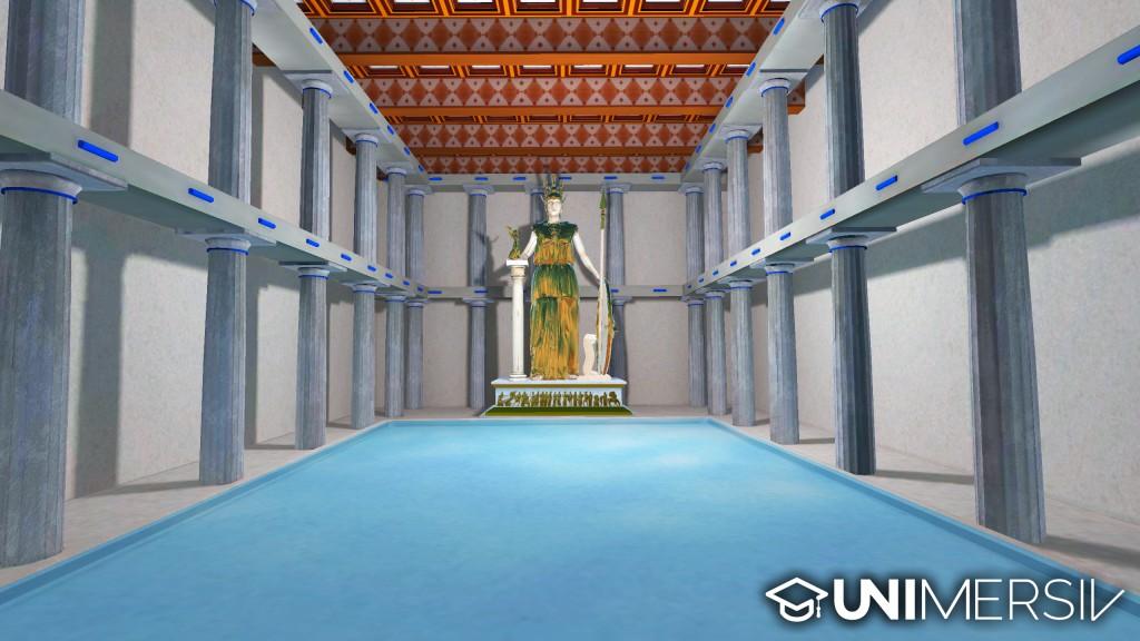 The interior of the Parthenon - Acropolis - Gear VR